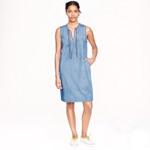 ✨JCREW✨Washed Chambray Shift Dress